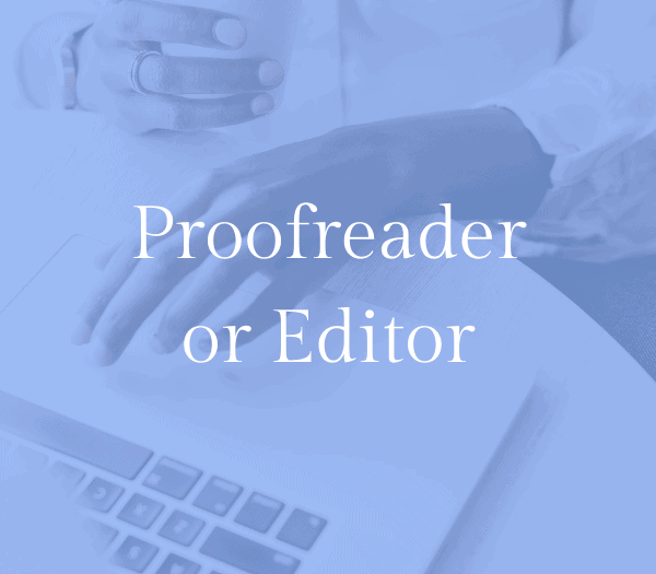 Proofreading and editing: work from home mom job idea 3