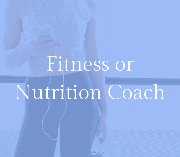 Become an online fitness or nutrition coach