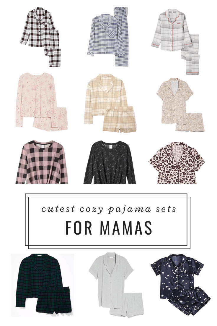 Cute PJ sets for moms working from home