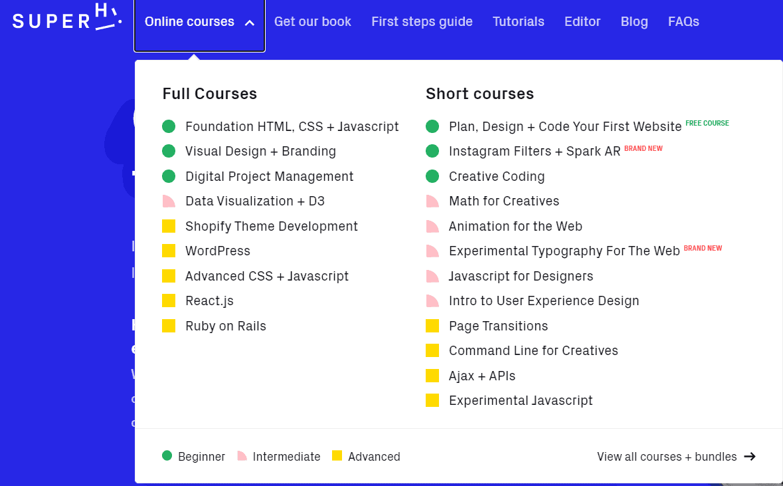 SuperHi coding courses